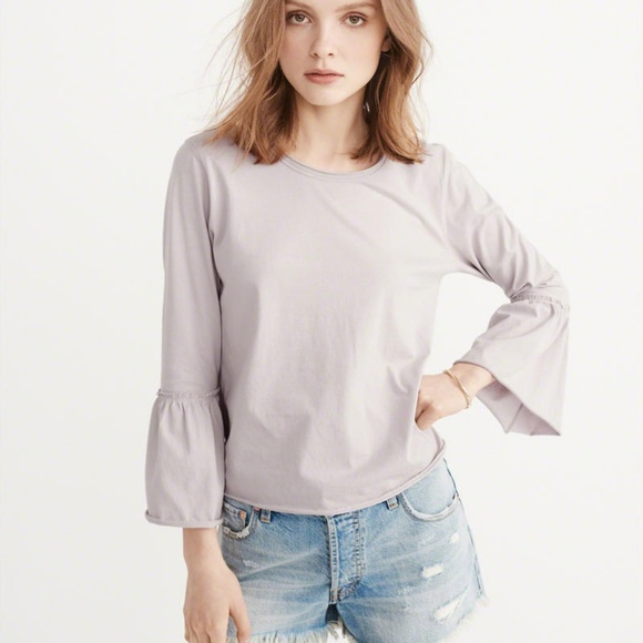 0fe7dbdeddb9 Abercrombie & Fitch Tops | Abercrombie Fitch Women Bell Sleeve Top ...